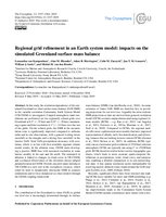 Regional grid refinement in an Earth system model: Impacts on the simulated Greenland surface mass balance