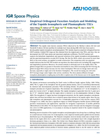 Empirical orthogonal function analysis and modeling of the topside ionospheric and plasmaspheric TECs
