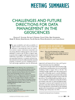 Challenges and future directions for data management in the geosciences