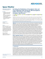 Revisiting the modulations of ionospheric solar and lunar migrating tides during the 2009 stratospheric sudden warming by using Global Ionosphere Specification