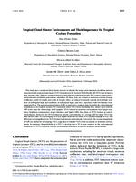 Tropical cloud cluster environments and their importance for tropical cyclone formation