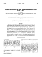 Preliminary impact studies using Global Positioning System radio occultation profiles at NCEP
