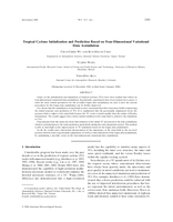 Tropical cyclone initialization and prediction based on four-dimensional variational data assimilation