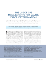 The use of GPS measurements for water vapor determination