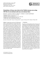 Simulations of deep convection in the Mediterranean area using 3DVAR of conventional and non-conventional data