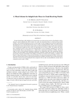 A mixed scheme for subgrid-scale fluxes in cloud-resolving models