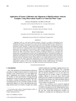 Application of feature calibration and alignment to high-resolution analysis: Examples using observations sensitive to cloud and water vapor