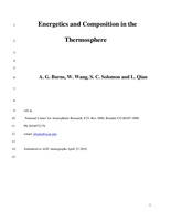Energetics and composition in the thermosphere