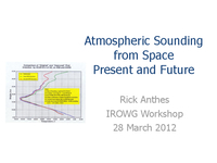 Atmospheric sounding from space: Present and future [presentation]