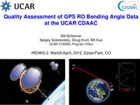 Quality assessment of GPS RO bending angle data at the UCAR CDAAC [presentation]