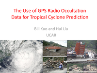 The use of GPS radio occultation data for tropical cyclones prediction [presentation]