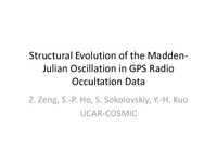 Structural evolution of the Madden-Julian osscillation in GPS radio occultation data [presentation]