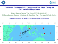 Continuous estimates of GPS precipitable water vapor during the DYNAMO Field Experiment [presentation]