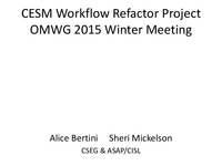 CESM and POP workflow [presentation]