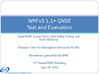 WRFv3.1.1 QNSE test and evaluation