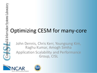 Optimizing CESM for many-core [presentation]
