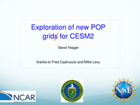 Exploration of new POP grids for CESM2 [presentation]