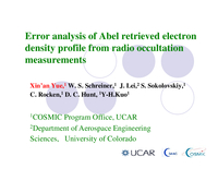 Error analysis of Abel retrieved electron density profiles from radio occultation measurements [presentation]