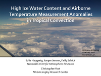High ice water content conditions associated with airborne temperature measurement anomalies near tropical convection [presentation]