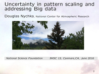 Quantifying uncertainty in the pattern scaling of climate models [presentation]
