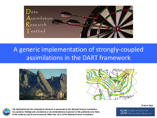 A generic implementation of strongly-coupled assimilations in the