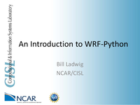 An introduction to WRF-Python