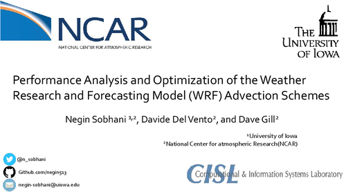 Performance analysis and optimization of the Weather Research and