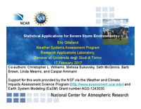 Statistical Applications for Severe Storm Environments