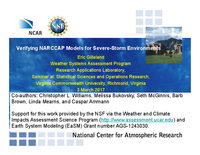 Verifying NARCCAP models for severe-storm environments