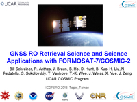 GNSS RO retrieval science and science applications with FORMOSAT7/COSMIC2