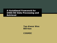 A variational framework for GNSS RO data processing and retrieval