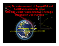 Long term assessment of Aqua AIRS and AMSU measurements using COSMIC global positioning system radio occultation observations