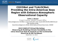 COCONet and TLALOCNet: Providing the intra-Americas seas region with enhanced atmospheric observational capacity