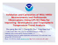 Validation and calibration of MSU/AMSU measurements and radiosonde observations using GPS RO data for improving stratospheric and tropospheric temperature trend analysis