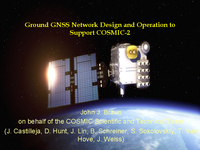 Ground GNSS network design and operation to support COSMIC-2