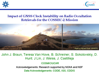 Impact of GNSS clock instability on radio occultation retrievals for the COSMIC-2 mission