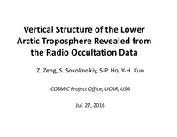 Vertical structure of the lower Arctic troposphere revealed from the radio occultation data