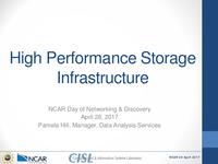 High performance storage infrastructure [presentation]