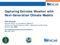 Capturing extreme weather with next-generation climate models [presentation]