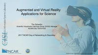 Augmented and virtual reality applications for science [presentation]