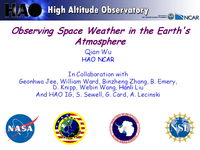 Observing space weather in the Earth's atmosphere [presentation]