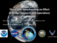 The Joint Center for Satellite Data assimilation spearheading an effort to bridge research and operations [presentation]