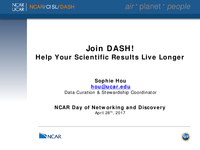 Join DASH! Help your scientific results live longer [presentation]