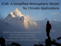ICAR: A simplified atmospheric model for climate applications [presentation]