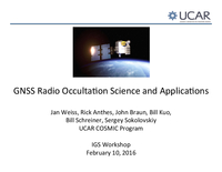 GNSS radio occultation science and applications