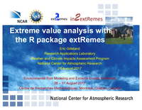 Extreme value analysis with the R package extRemes
