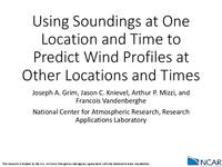 Using soundings at one location and time to predict wind profiles at other locations and times