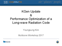 KGen update & performance optimization of a long-wave radiation code