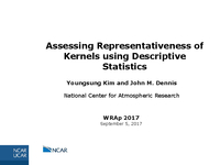 Assessing representativeness of kernels using descriptive statistics