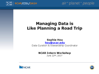 Managing data is like planning a road trip